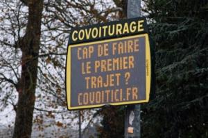 Panneau Covoit'ici covoiturage pour déplacements quotidiens Magny
