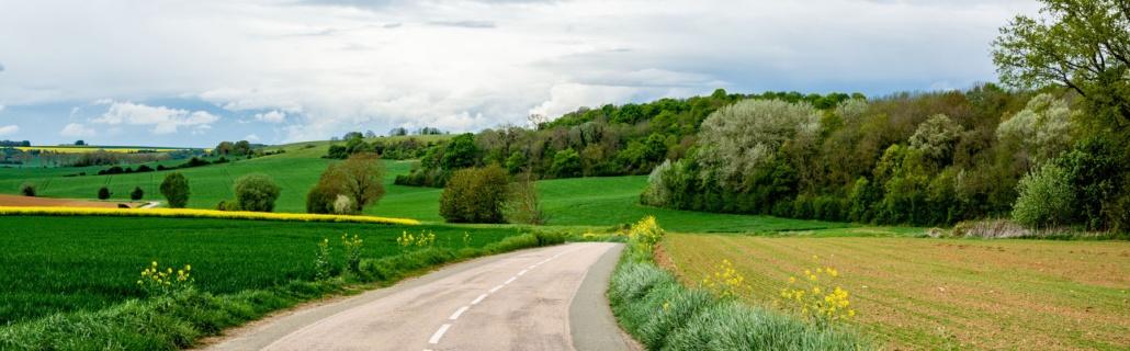 Une route dans le Vexin