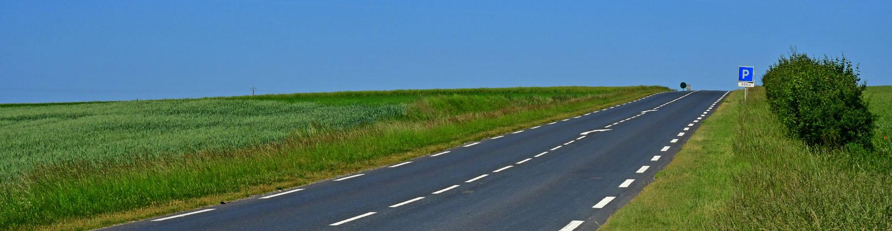 Une départementale du Vexin, desservi par le covoiturage, qui donne droit au forfait mobilités durable.