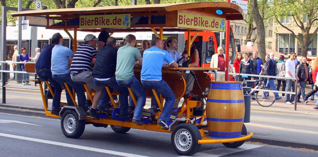 Une solution de mobilité avec le bierbike.